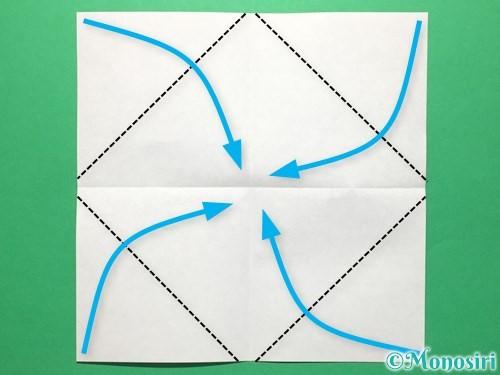 折り紙で盾の折り方手順3