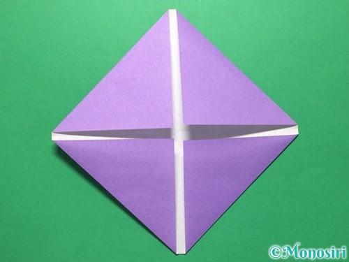 折り紙で盾の折り方手順4