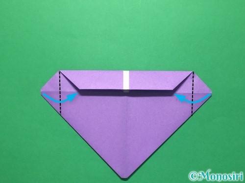 折り紙で盾の折り方手順10