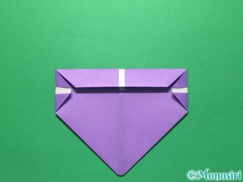 折り紙で盾の折り方手順11