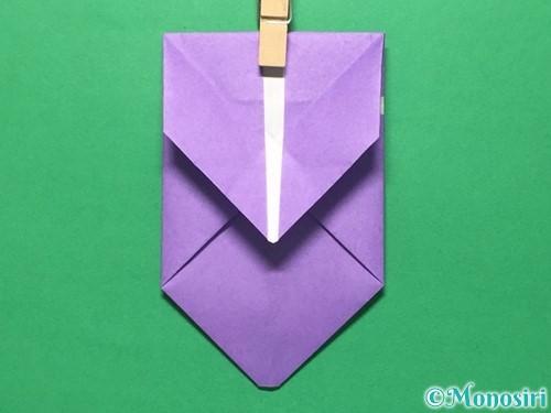 折り紙で盾の折り方手順18