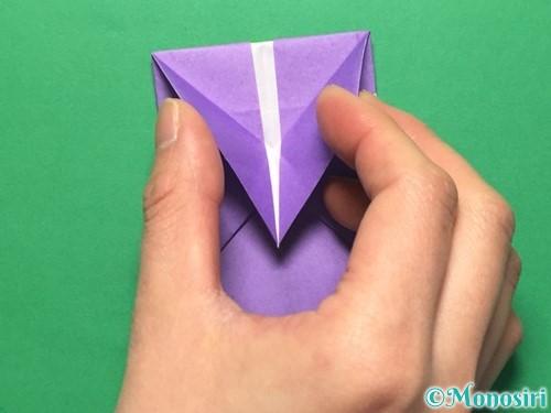 折り紙で盾の折り方手順19