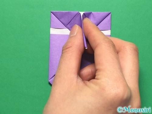 折り紙で盾の折り方手順21