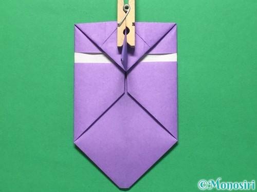 折り紙で盾の折り方手順22