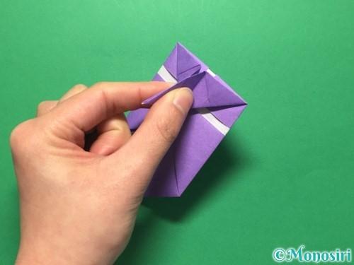 折り紙で盾の折り方手順25