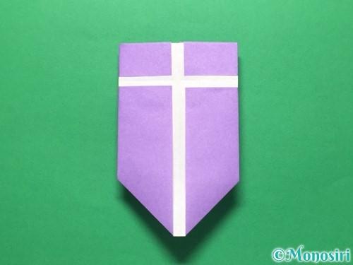 折り紙で盾の折り方手順24