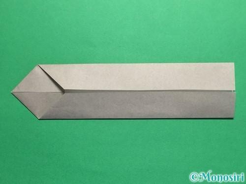 折り紙で剣の折り方手順10