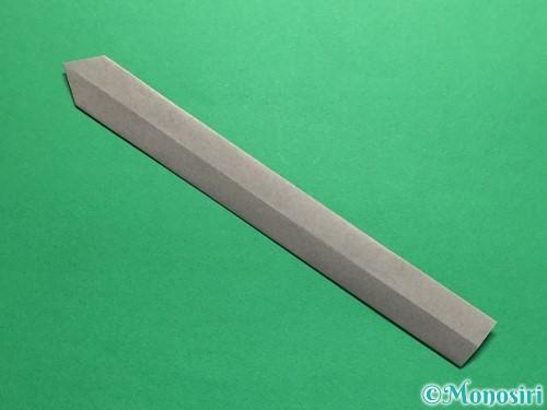 折り紙で剣の折り方手順13