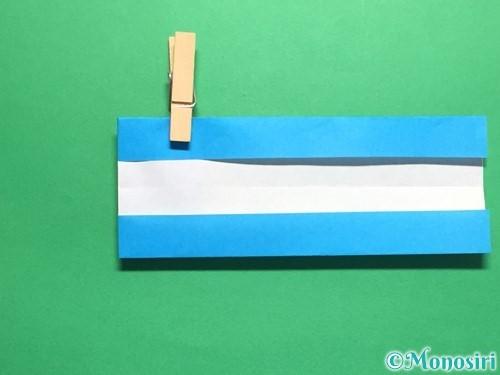 折り紙で剣の折り方手順33