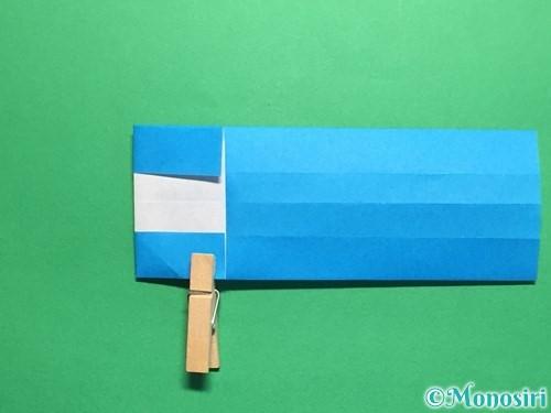 折り紙で剣の折り方手順34