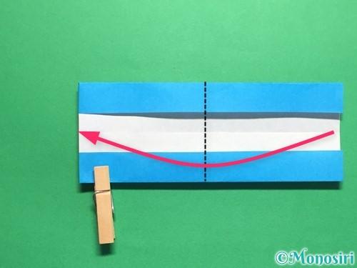 折り紙で剣の折り方手順38