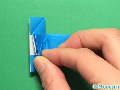 折り紙で剣の折り方手順46