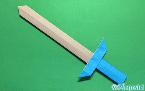 折り紙で作った剣
