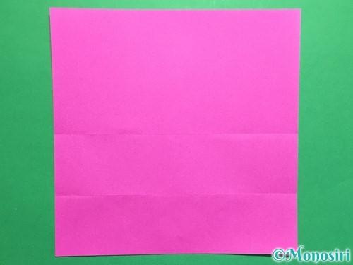 折り紙で連続ハートの切り方手順4