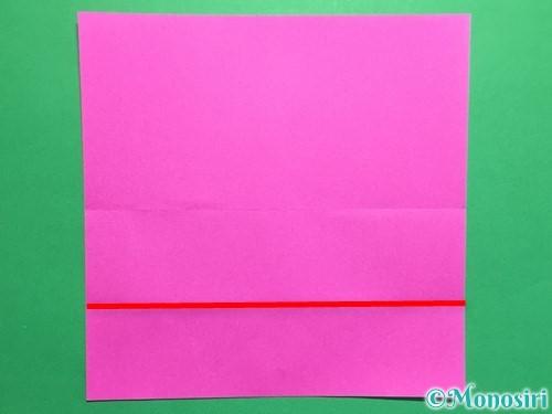 折り紙で連続ハートの切り方手順5