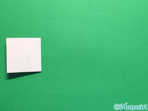 折り紙で連続ハートの切り方手順10