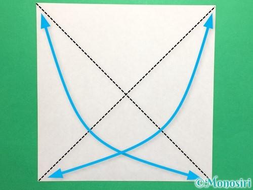 折り紙でハートの封筒の折り方手順1