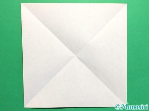 折り紙でハートの封筒の折り方手順2