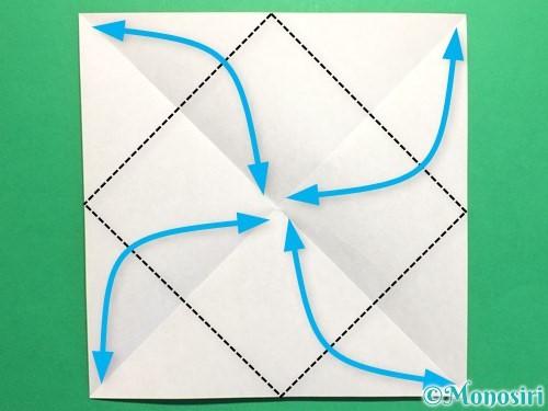 折り紙でハートの封筒の折り方手順3