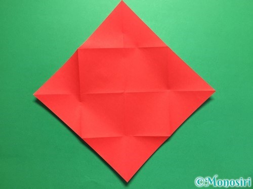 折り紙でハートの封筒の折り方手順5