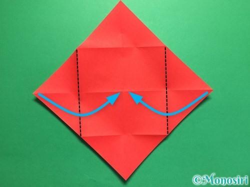 折り紙でハートの封筒の折り方手順6