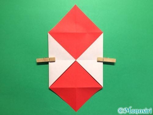 折り紙でハートの封筒の折り方手順7