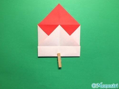 折り紙でハートの封筒の折り方手順9
