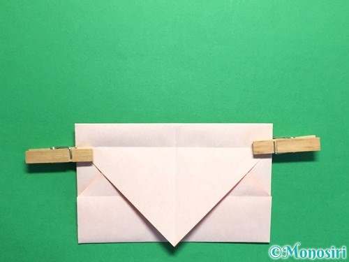折り紙でハートの封筒の折り方手順13
