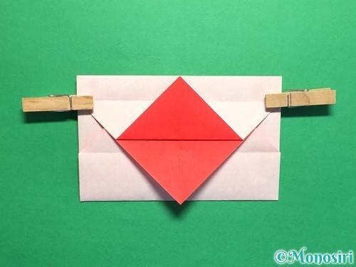 折り紙でハートの封筒の折り方手順15