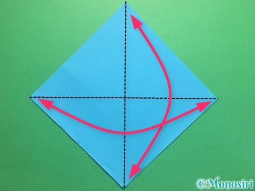 折り紙でハートネクタイの折り方手順1