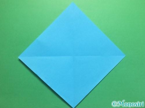 折り紙でハートネクタイの折り方手順2