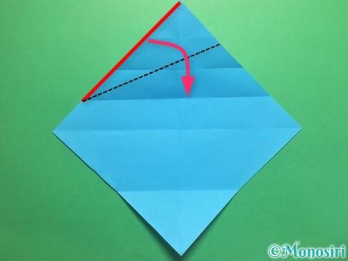 折り紙でハートネクタイの折り方手順8
