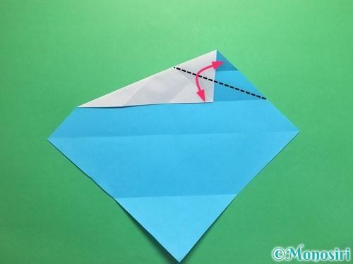 折り紙でハートネクタイの折り方手順10