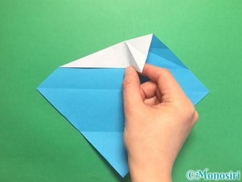 折り紙でハートネクタイの折り方手順12