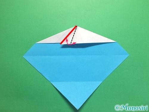 折り紙でハートネクタイの折り方手順15