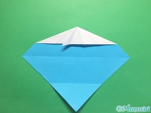 折り紙でハートネクタイの折り方手順16