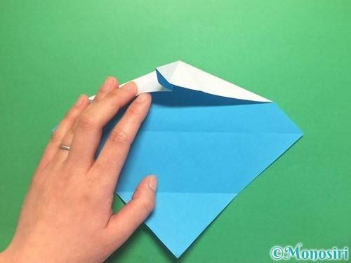 折り紙でハートネクタイの折り方手順17