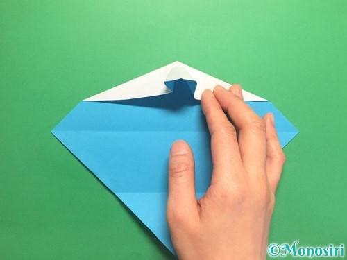 折り紙でハートネクタイの折り方手順18