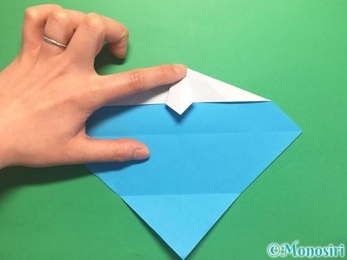 折り紙でハートネクタイの折り方手順19