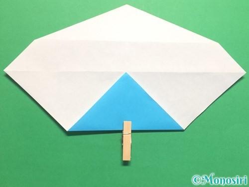 折り紙でハートネクタイの折り方手順23