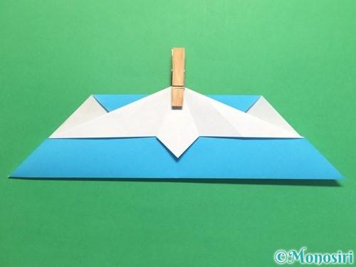折り紙でハートネクタイの折り方手順26