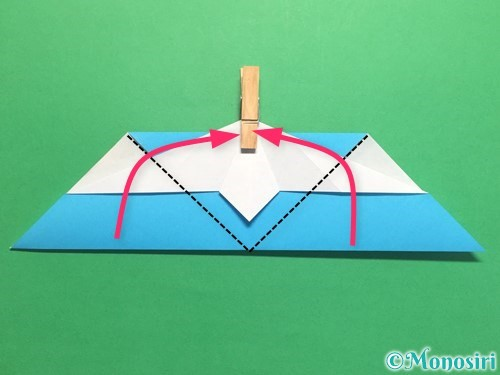 折り紙でハートネクタイの折り方手順27