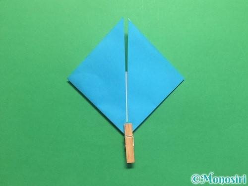 折り紙でハートネクタイの折り方手順28
