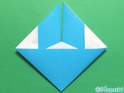 折り紙でハートネクタイの折り方手順31