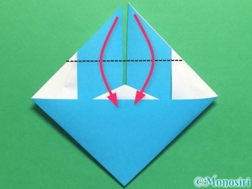 折り紙でハートネクタイの折り方手順32