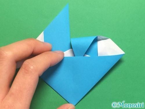 折り紙でハートネクタイの折り方手順33