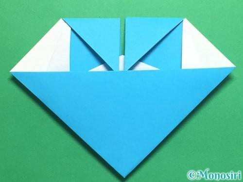 折り紙でハートネクタイの折り方手順34