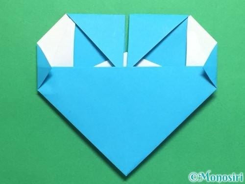 折り紙でハートネクタイの折り方手順36