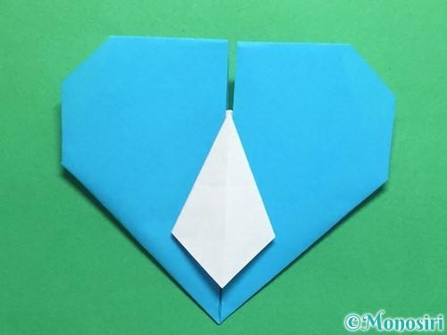 折り紙でハートネクタイの折り方手順37