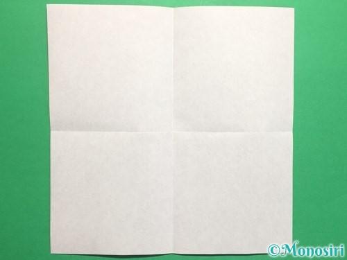 折り紙で立体的なハートの折り方手順2